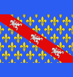 Flag of creuse in nouvelle-aquitaine is the vector