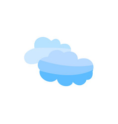 flat blue cloud sky icon isolated vector image