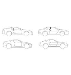 Flat racing car set eps 10 vector