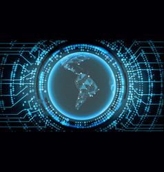 future technology cyber concept background south vector image