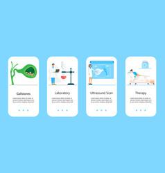 Gallbladder concept app doctors treat vector