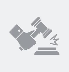 gavel gesture of judgment vector image