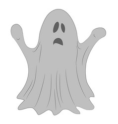 ghost for halloween drawing vector image