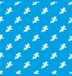 Ginger pattern seamless blue vector