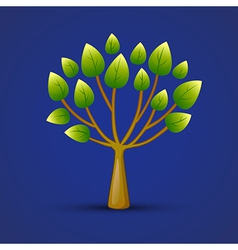 Graphic Tree Web Icon Design vector image