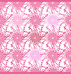 half tone pattern with dots in pink - monochrome vector image