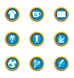 Heavenly place icons set flat style vector