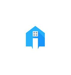 home letter i logo icon design vector image