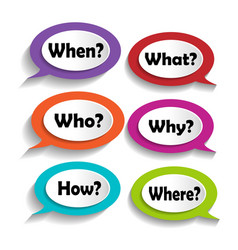 icons with questions vector image vector image
