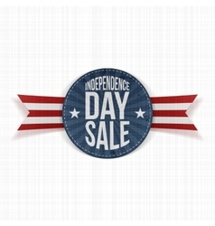 Independence Day Sale circle Label vector image