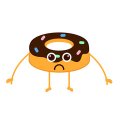 isolated sad donut emote vector image
