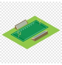 Isometric american football field vector