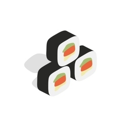 Korean food kimbap icon isometric 3d style vector