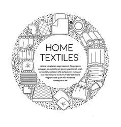 linen and towels home textiles line icons on vector image