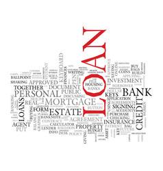 Loan word cloud concept vector