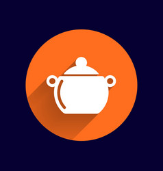 Logo pot casserole cooking image sign vector
