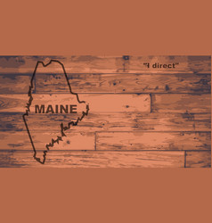 Maine map brand vector