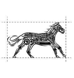 Mechanic-Horse vector