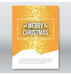 Merry Christmas Orange Invitation Card design vector image