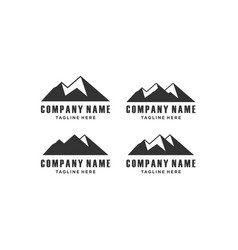 Mountain hill panorama logo design icon vector