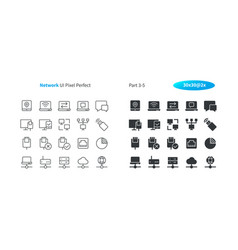 network ui pixel perfect well-crafted thin vector image