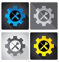 Object tool and colorful icon design screwdriver vector