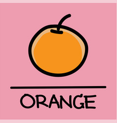 Orange hand-drawn style vector