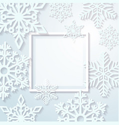 Paper snowflakes on light background holiday vector