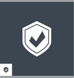 protection related glyph icon vector image