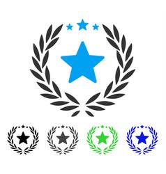 Proud emblem flat icon vector