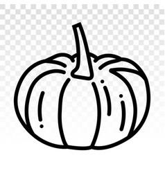 Pumpkins line art icon on transparent background vector
