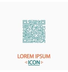 Qr code computer symbol vector