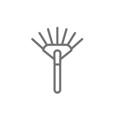 rake pitchfork line icon isolated on white vector image