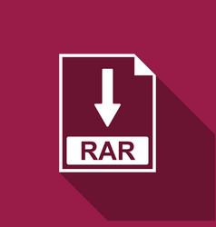 rar file document icon download rar button icon vector image vector image