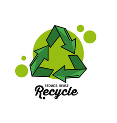 recycle round symbol vector image vector image