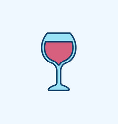 red wine glass icon vector image