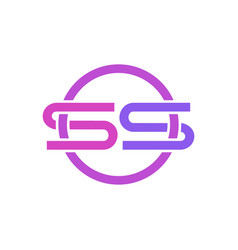 S logo icon design vector