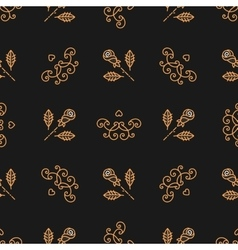 Seamless pattern Art Deco Elegant gold roses and vector image