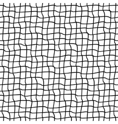 Seamless pattern with crossed wavy lines Grid vector image