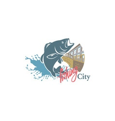 Sity fishing vector