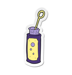 Sticker of a cartoon bubble blower vector