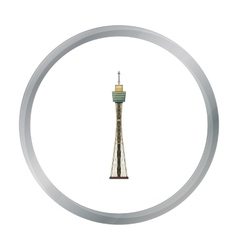 Sydney tower icon in cartoon style isolated on vector