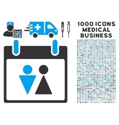 Toilet Calendar Day Icon With 1000 Medical vector image