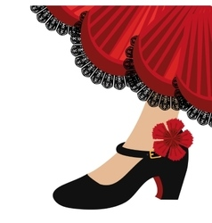 Traditional flamenco shoes icon vector