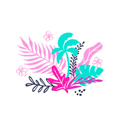 tropical collection for summer beach party exotic vector image