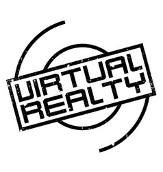 Virtual realty rubber stamp vector