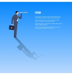 Vision business template vector