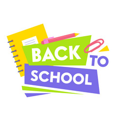 welcome back to school educational promo banner vector image