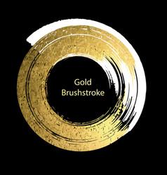 White and gold brushstroke design templates for vector