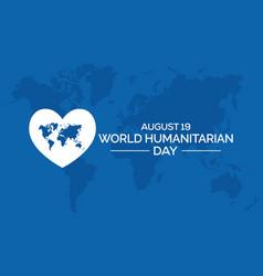 World humanitarian day vector